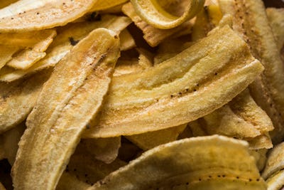 Banana chips or wafers