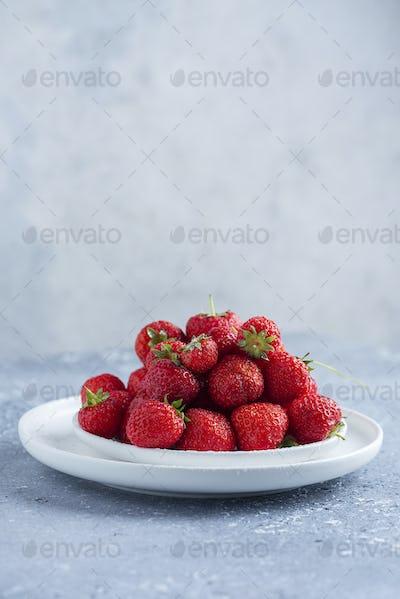 Red wild strawberry