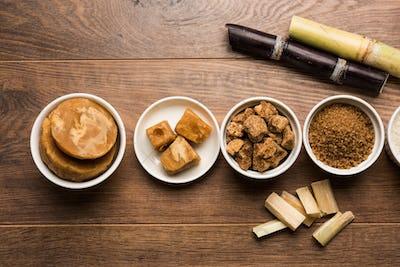 Jaggery & Sugar Variety with Sugarcane