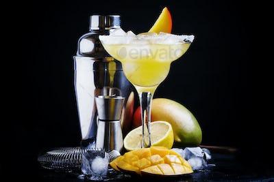 Alcoholic cocktail mango daiquiri
