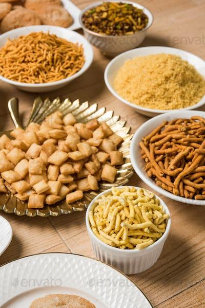 Group of Diwali Snacks