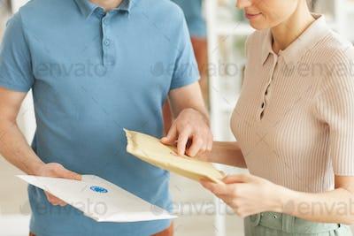 Man delivering letters