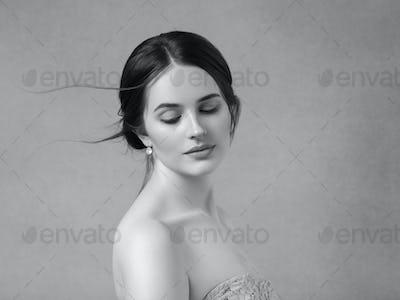 Beauty woman healthy skin concept natural makeup beautiful model girl