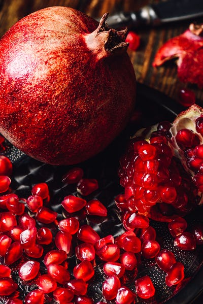 Pomegranate with Ruby Seeds