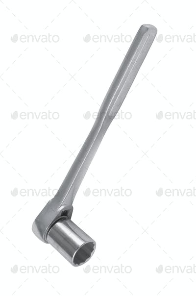 Ratchet spanner. Isolated on white background