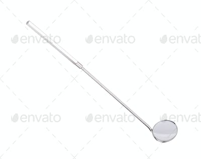 Dental mirror isolated on white background