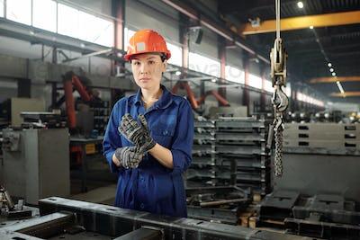 Woman in metalworking industry