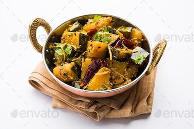 Pumpkin Or Kaddu Sabzi