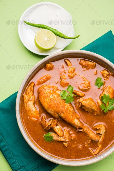 Indian Reddish Chicken Curry