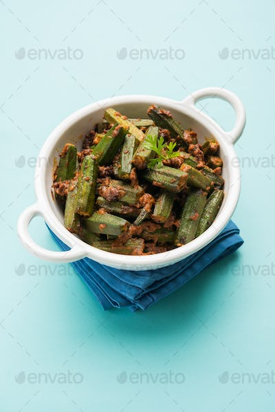 Bhindi / Okra Sabzi Or Ladyfinger Vegetable Recipe