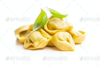 Tortellini pasta. Italian stuffed pasta