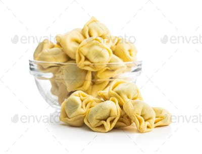 Tortellini pasta. Italian stuffed pasta.
