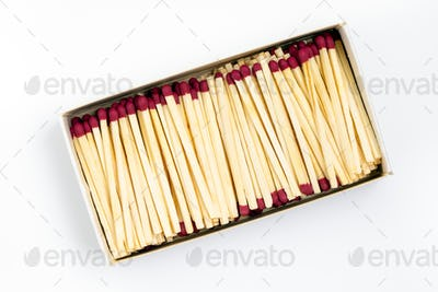 White cardboard box with matches