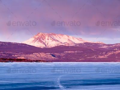 Mount Laurier Lake Laberge Yukon Territory Canada