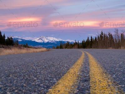 North Klondike Hwy near Whitehorse Yukon Canada