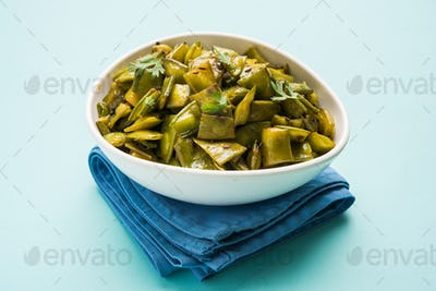 Flat Green Beans Vegetable Dish