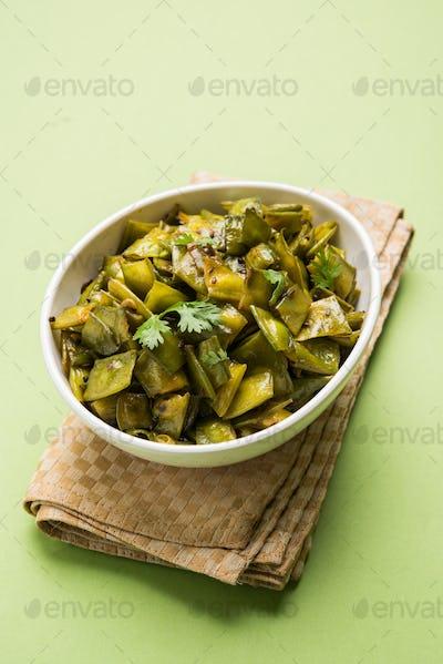 Flat Green Beans Vegetable Dish