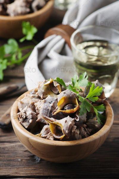 Sardinian traditional dish of murex brandaris