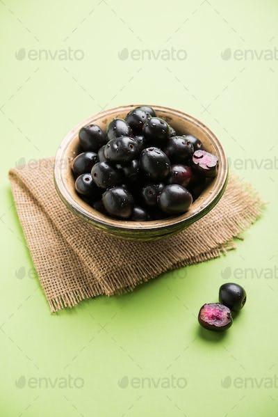 Jamun Or Java Plum Fruit