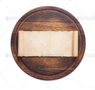 pizza cutting board on white background