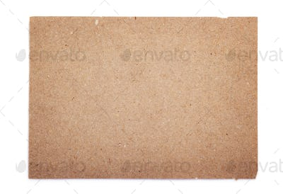 piece of aged paper texture on white background