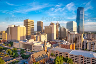 Oklahoma City, Oklahoma, USA Downtown Cityscape