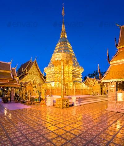 Wat Phra That Doi Suthep Temple of Chiang Mai, Thailand.