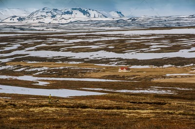 Iceland beautiful landscape with mountains and water, wild beautiful  panorama