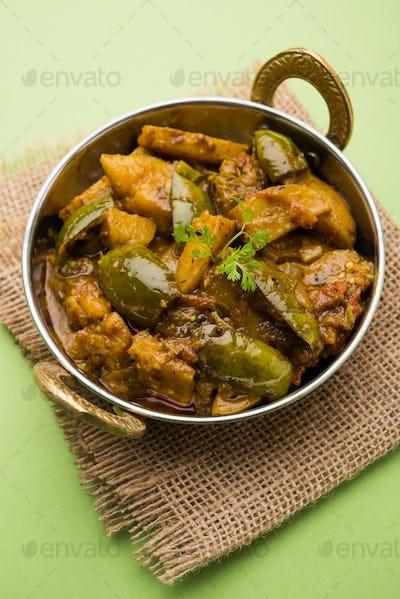 Aloo Baingan Masala / Potato Eggplant Sabzi
