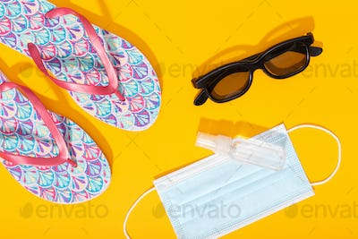 Summer or vacation concept during coronavirus covid-19 pandemic