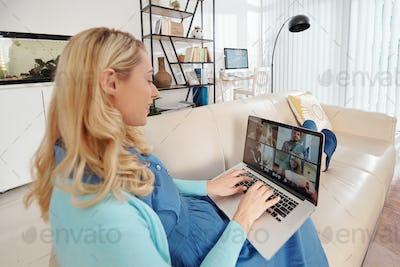 Online meetingof colleagues