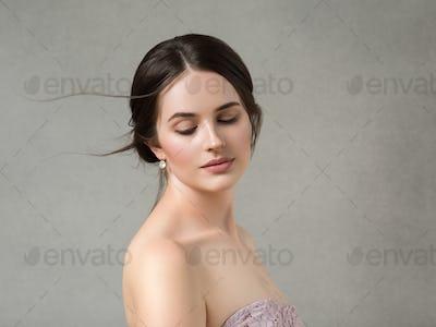 Art woman classic portrait romantic girl beauty