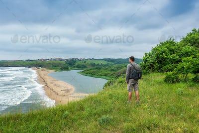 Wild beach at the Black sea coast