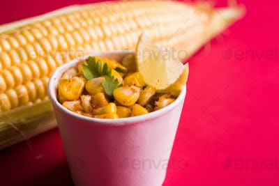 Sweet Corn Chat / Chatpata Masala Corn