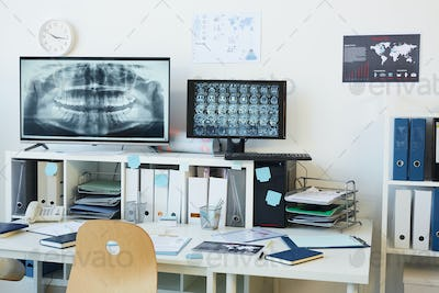 Computer Equipment in Dental Clinic