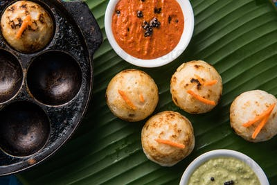 Appam or Rava Appe - South Indian Food