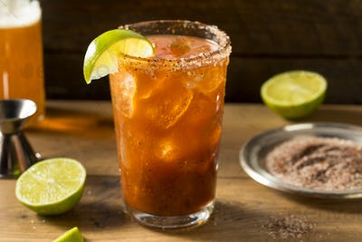 Homemade Mexican Michelada Beer Cocktail