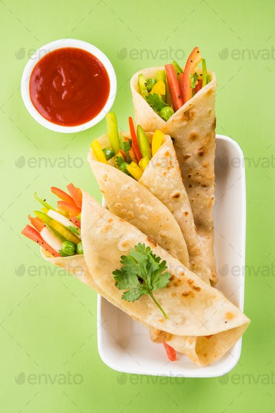 Veg Spring Roll or Franky Or Wrap