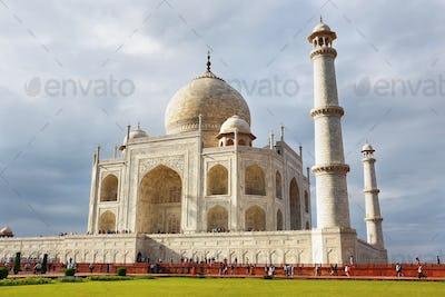 White marble Taj Mahal in India, Agra, Uttar Pradesh