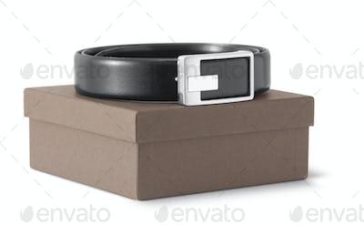 Man's black belt