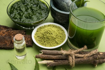 Ayurvedic Neem Or Azadirachta Indica & it's by-products