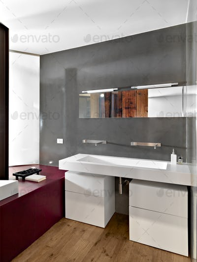 Interiors of a Modern Bathroom