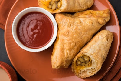 Vegetable Puff or Veg Puff,