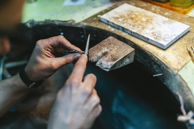 Smart goldsmith working