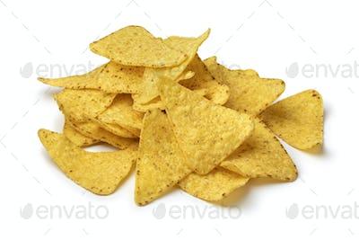 Heap of fresh salted tortilla chips