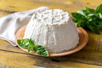 Ricotta with fresh basil