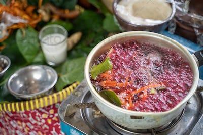 wedang uwuh traditional Javanese drink