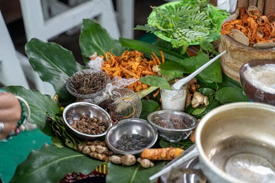 concoction of traditional Javanese herbal medicine