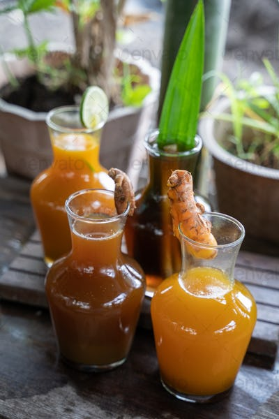 herbal medicine in glass bottles is Javanese heritage