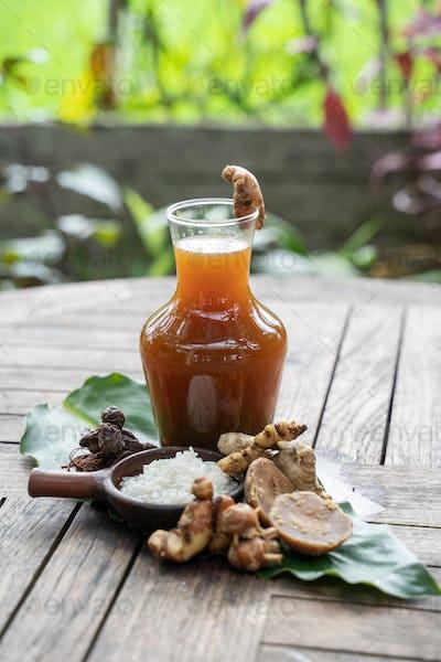 Javanese traditional herbal health drinks